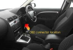 Inside Vehicle Pull Down Connector Location Under Steering Wheel